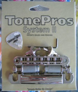 TonePros LPS02-N Standard Tuneomatic/Tailpiece Set Nickel