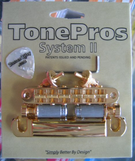 TonePros LPM04-G Standard Tuneomatic/Tailpiece Set Gold