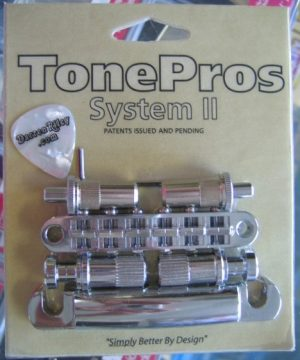 TonePros LPM02-C Metric Tuneomatic/Tailpiece Set Chrome