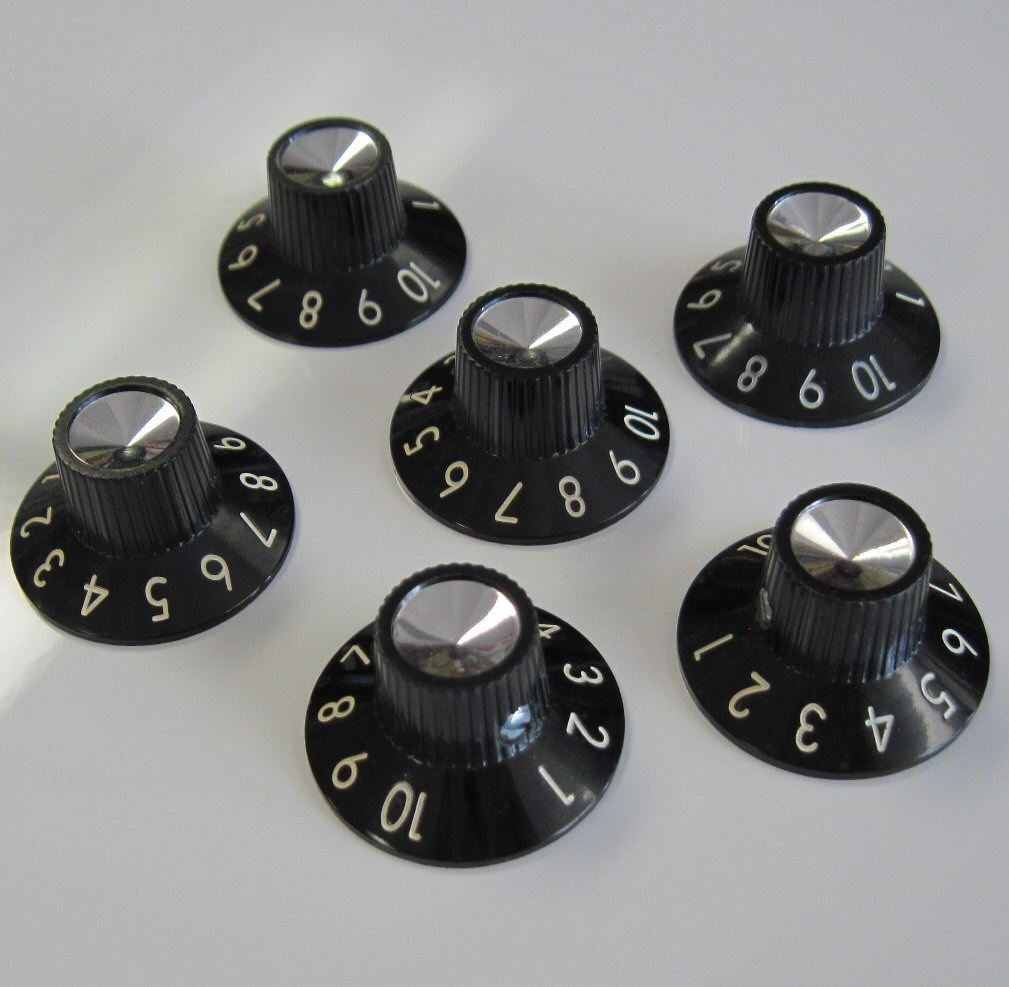 Fender Original Black Pointer Knobs 099-0932-000