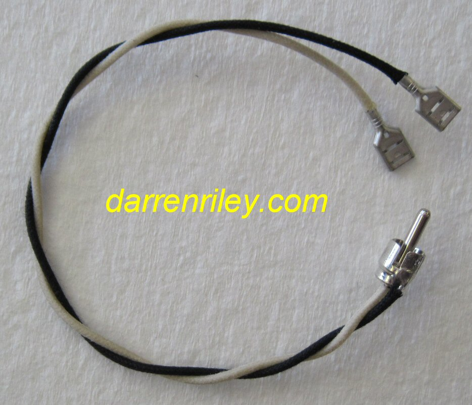 Vintage Style Rca Speaker Cable With Slip On Connectors