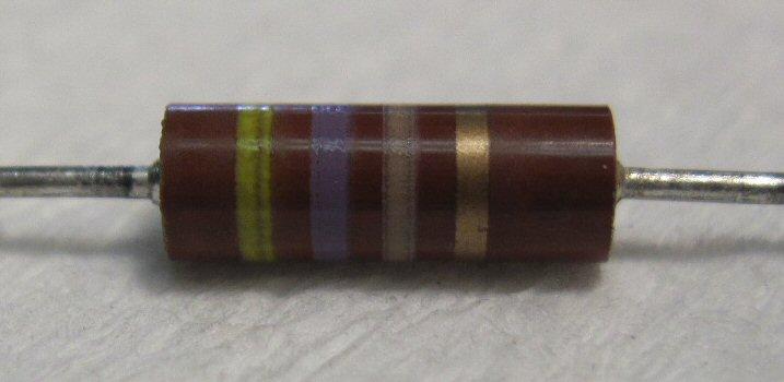 2 Watt 10/% 470 Ohm Carbon Composition Resistor NOS