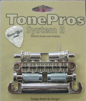 TonePros LPM02-N Metric Tuneomatic/Tailpiece Set Nickel