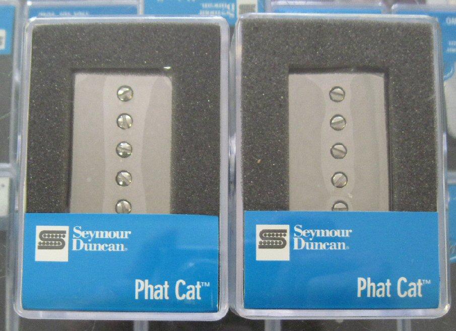 seymour duncan phat cat p90 humbucker set nickel covers. Black Bedroom Furniture Sets. Home Design Ideas