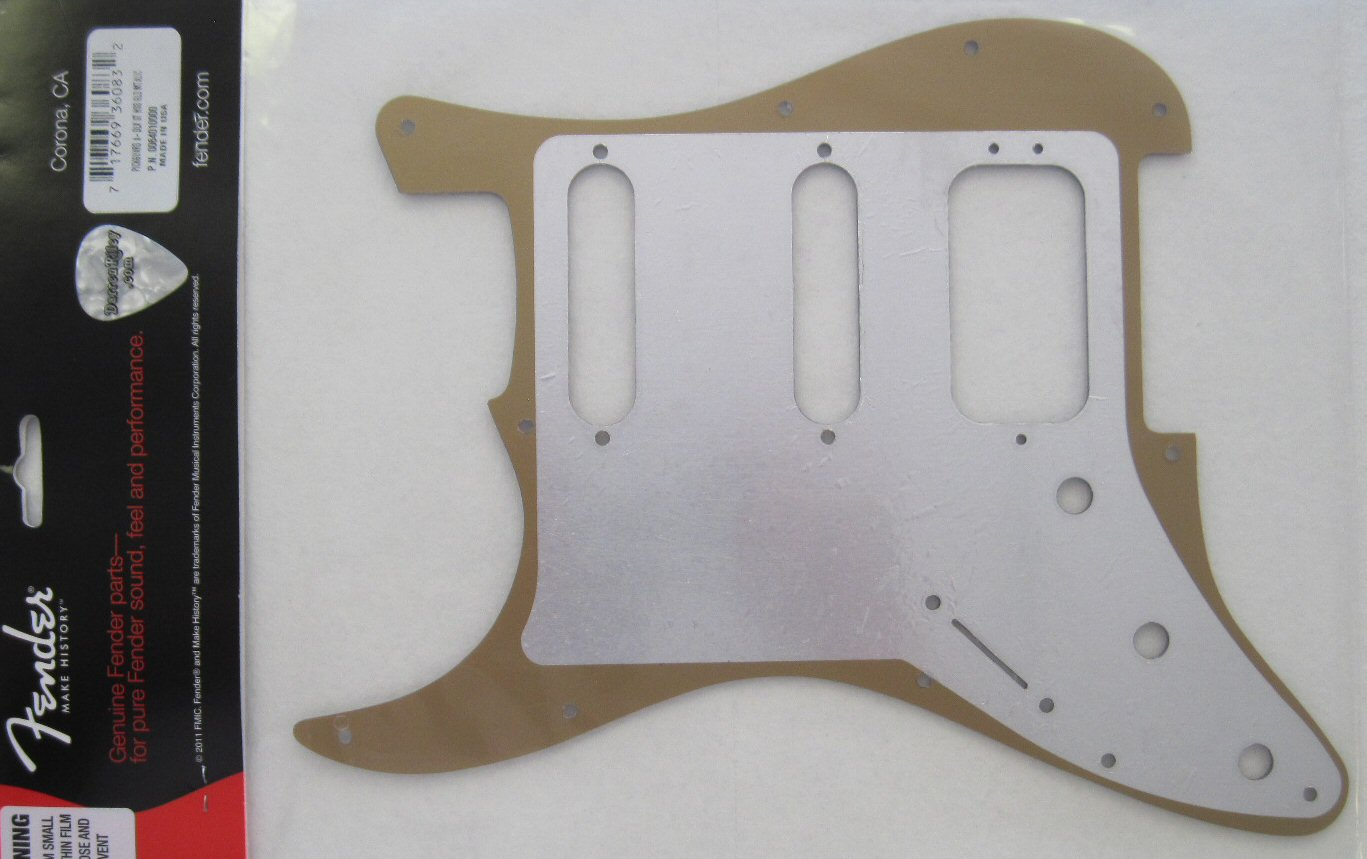 Fender American Deluxe Stratocaster Pickguard Gold 0064010000 006 10 Guitar Wiring Harness Pickup Switch Pots Jack For Strat