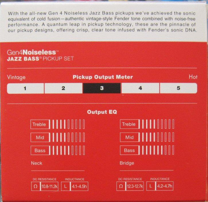 Fender gen 4 noiseless jazz bass pickups 0992262000 cheapraybanclubmaster Images