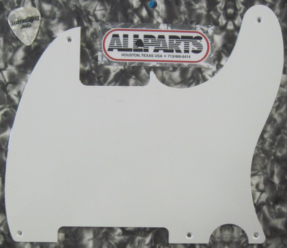 Allparts Telecaster Pickguard 1-Ply Black