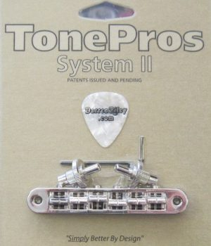 TonePros TP6A-N Standard Aluminum Tuneomatic with Brass Saddles Nickel