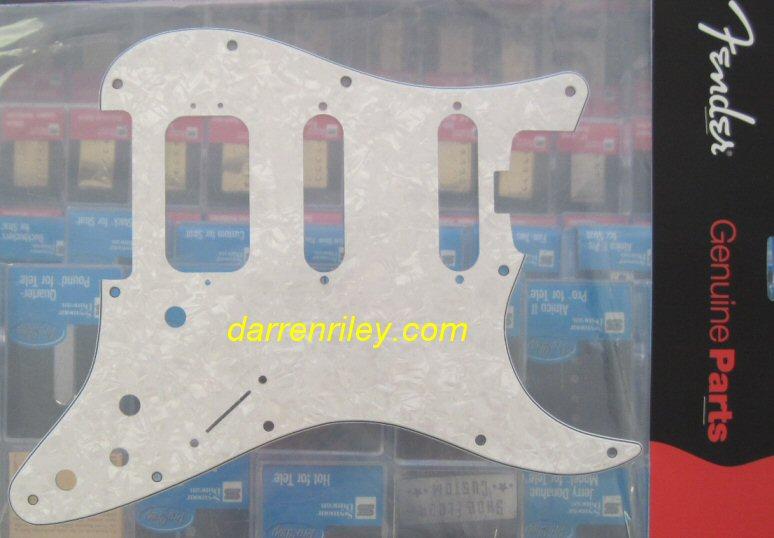 White Moto Fender Standard HSH Pickguard