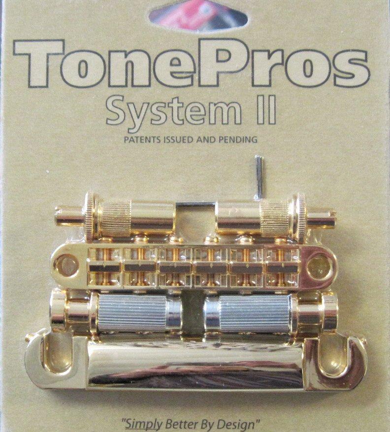 TonePros LPM02-G Metric Tuneomatic/Tailpiece Set Gold