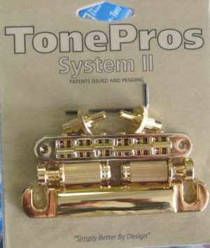 TonePros LPS02-G Standard Tuneomatic/Tailpiece Set Gold