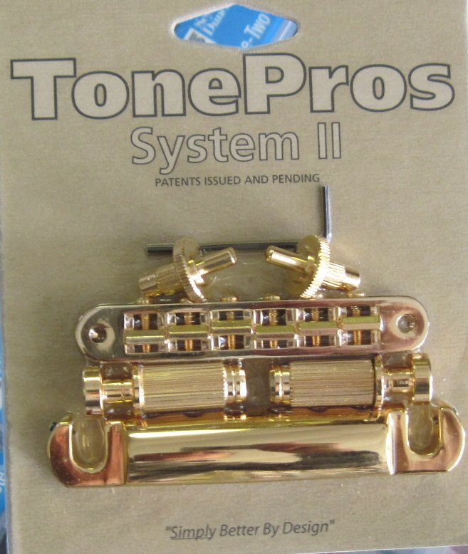 TonePros Tune-O-Matic Standard Bridge Tailpiece Set for Gibson Nickel
