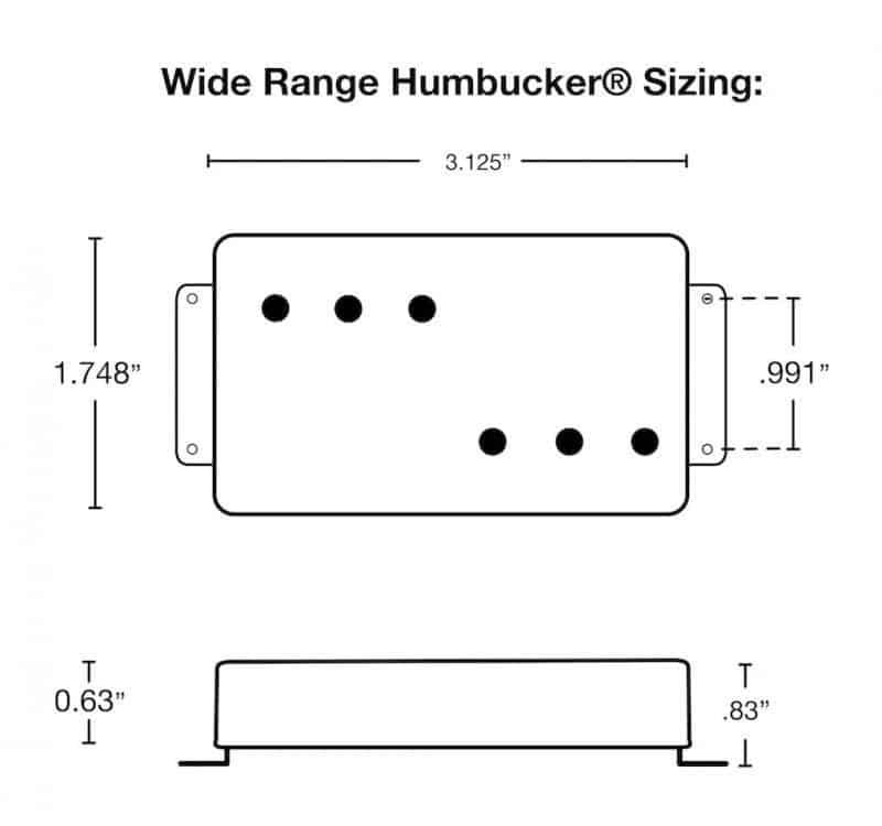 Lindy Fralin Wide Range Humbucker Neck Pickup | Wide Range Pickup Diagram |  | darrenriley.com